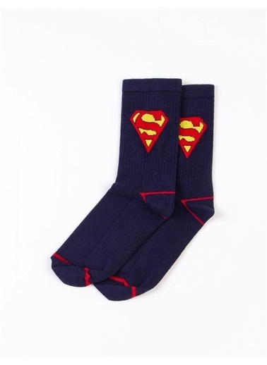 Superman Çorap Lacivert